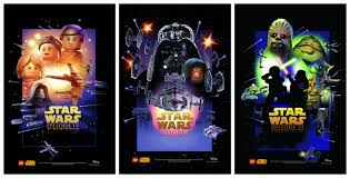 Star Wars Movie Posters Recreated In LEGO