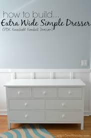 Tool Box Dresser Diy by How To Build An Extra Wide Simple Dresser Sew Woodsy