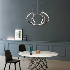 led hängeleuchte modern geometrisches design für esszimmer