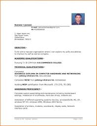 Simple Resume Templates Format Word Template