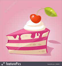 Desserts Piece of cake vector illustration