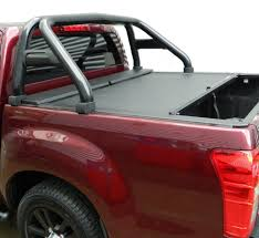 Black Single Hoop Sports Roll Bar For Isuzu D-Max - 4x4 Accessories ...