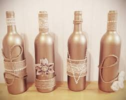 Wine Bottle Decor Rustic Home Farmhouse Country Wedding Twine Wrapped Bottles