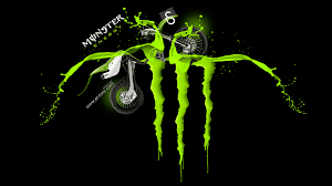 Monster Energy Logo Acid Green Fantasy Kawasaki Motocross