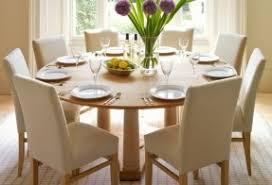 Luxury Large Round Black Oak Dining Table 8 Amazing Thick Back