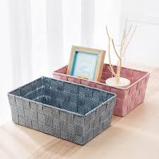 desktop stricken sammlung korb kosmetik spielzeug ablagekorb badezimmer kleine küche snack aufbewahrungsbox