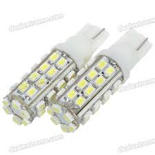 t10 3w 12v 304 lumen 38x3020 smd led car white light bulb pair