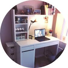 Ikea Desk Hutch Whiteboard by My White Ikea Micke Desk Is The Perfect Workspace To Get Creative