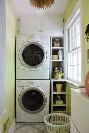 Small Laundry Room With Stacked Washer And Dryer Young House Love