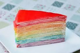 regenbogen crêpe kuchen