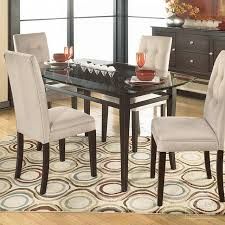 dining room astounding ashley furniture round glass dining table
