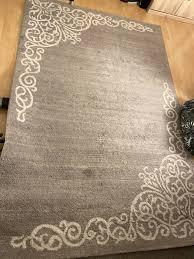 edler designer teppich grau groß wohnzimmer schlafzimmer