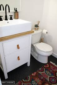 Ikea Hemnes Bathroom Vanity Hack by Before And After Office Bathroom U2013 Amber Interiors