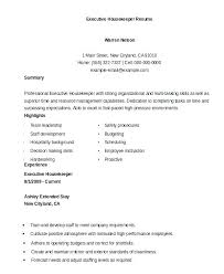 Create My Resume Housekeeping With No Experience Work Housekeeper Example