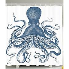 Amazon Kraken Shower Curtain Octopus Decor by Ambesonne for