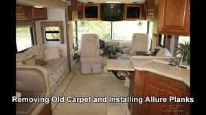 Best Type Of Flooring For Rv by Removing Old Rv Carpet U0026 Replacing With Allure Planks Vinyl