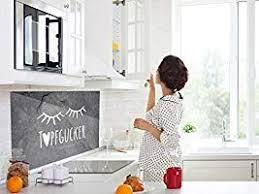 grazdesign spritzschutz küche glas grau sleepy