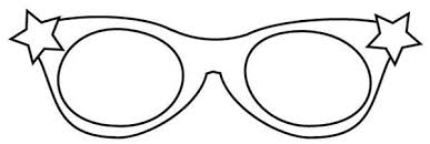 Eyes Starry Eyeglasses Colouring Page