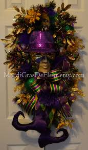 Burlap Mardi Gras Door Decorations by 345 Best Mardi Gras Wreaths Images On Pinterest Mardi Gras