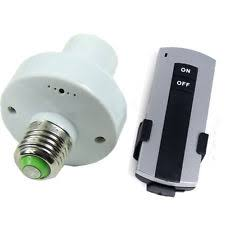e27 wireless remote light l bulb holder adapter socket