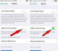 How to Show Battery Percentage on iPhone 7 Plus iOS 10