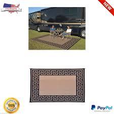 patio mat 9x12 rv reversible indoor outdoor rug cing picnic