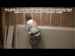Hanging Drywall On Ceiling Or Walls First by How To Hang Drywall On Walls Youtube