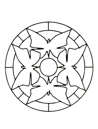 Coloring Page Simple Mandala 35
