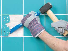 Diy Regrout Tile Floor by How To Fix Broken Wall Tile And How To Regrout How Tos Diy