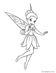 Tinkerbell Iridessa 01 Coloring Page