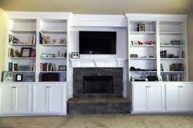 Living Room With Fireplace And Bookshelves by Built In Bookshelf Enlivens Bland Room Angie U0027s List