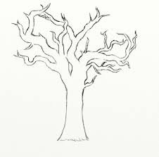 Just draw in some branches to your tree Try to make your tree look as full as possible There are no leaves so it s a bit bare looking to begin with