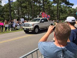 Truck With Confederate Flags Drives Between Anti And Pro-trump ... Cheap Truck Safety Flags Find Deals On Line At Red Pickup Merry Christmas Farm House Flag I Americas Car Decals Decorated Nc State Truck With Flags And Maximum Promotions Inc Flagpoles Distressed American Tailgate Decal Toyota Tundra Gmc Chevy Bed Mount F150online Forums Rrshuttleus Wildland Brush In Front Of American Bfx Fire Apparatus Shots Fired At Confederate Rally Attended By Thousands Cbs Tampa