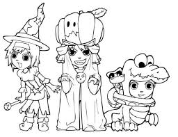 Costumes Halloween Coloring Pages Printable Kids
