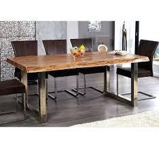 table en bois de cuisine engageant table de cuisine en bois a manger massif et metal chrome