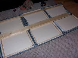Cheap Upholstered Headboard Diy by Diy Headboard Plywood Foam Batting Fabric Staple Gun Wall