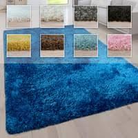 hochflor wohnzimmer teppich waschbar shaggy uni in versch größen u farben grösse 80x150 cm farbe türkis