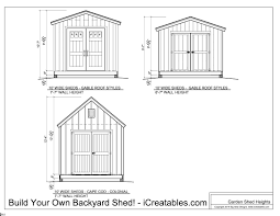 Shed Plans 8x12 Materials by Shed Plans Heights Find Out How Tall Your Shed Will Be