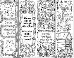 RicLDP Artworks Printable Coloring Bookmarks