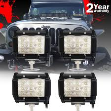 "4"" 18W LED Light Bar Driving Lights Fog Light Work FLOOD Light For ... 4x 4inch Led Lights Pods Reverse Driving Work Lamp Flood Truck Jeep Lighting Eaging 12 Volt Ebay Dicn 1 Pair 5in 45w Led Floodlights For Offroad China Side Spot Light 5000 Lumen 4d Pod Combo Lights Fog Atv Offroad 3 X 4 Race Beam Kc Hilites 2 Cseries C2 Backup System 519 20 468w Bar Quad Row Offroad Utv Free Shipping 10w Cree Work Light Floodlight 200w Spotlight Outdoor Landscape Sucool 2pcs One Pack Inch Square 48w Led Work Light Off Road Amazoncom Ledkingdomus 4x 27w Pod"