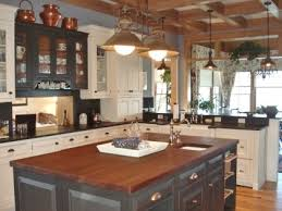 farmhouse kitchen island could work with overhang color