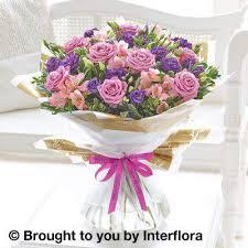 Happy Birthday Lilac Rose and Alstromeria Hand Tied Extra