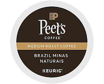 Peet's Coffee Medium Roast - Brazil Minas Naturals, K-cup Portion Pack For Keurig Brewers, 16oz, 22ct