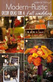 Contemporary Fall Wedding Decorations From A Welcome Wine Cart To Brilliant Bouquet In Chic