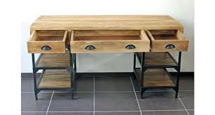 bureau industriel metal bureau metal bois bureau industriel mtal et bois de manguier