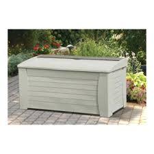 storage bins suncast storage box 129 gallon deck bins resin