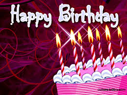 Happy Birthday Cake With Candles Graphic