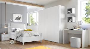 schlafzimmer freli weiß inkl schreibtisch