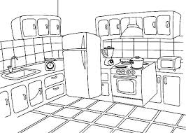 Kitchen How To Draw Coloring Pages PagesFull Size