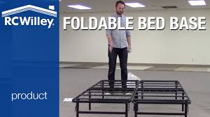 Rc Willey Bed Frames by Super Easy Folding Mattress Base Youtube
